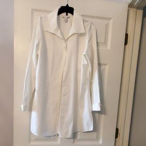 Long sleeve white blouse